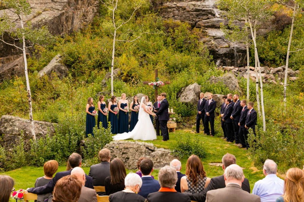 Waterfall for wedding ceremony backdrop