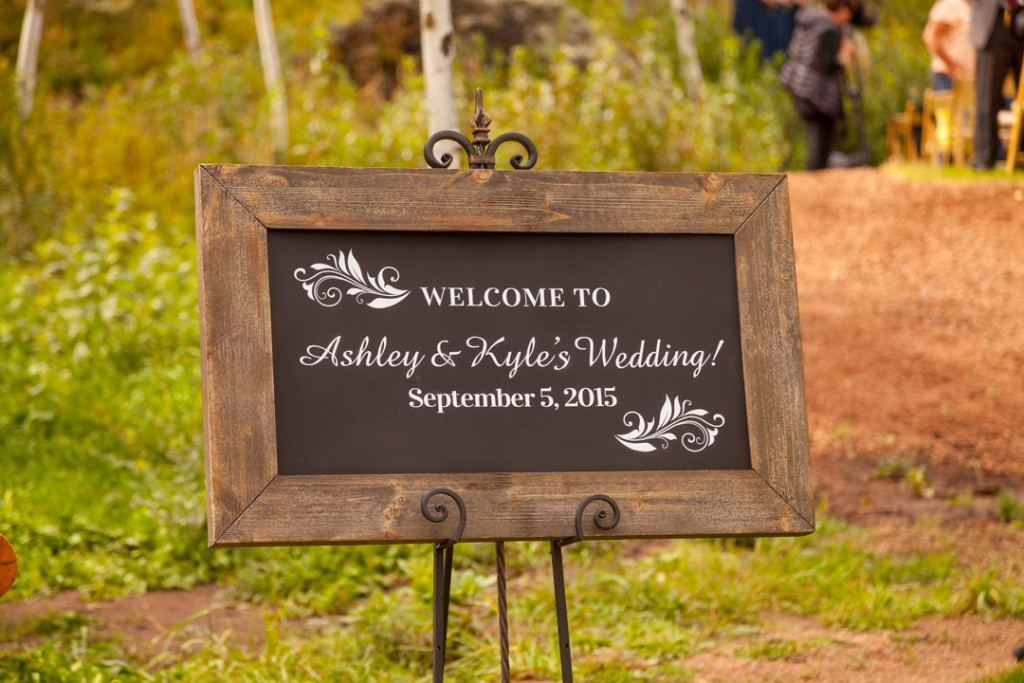 Ashley and Kyle's Wedding welcome sign