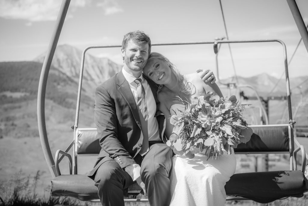 chairlift wedding