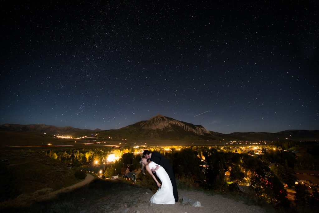 Crested Butte evening wedding