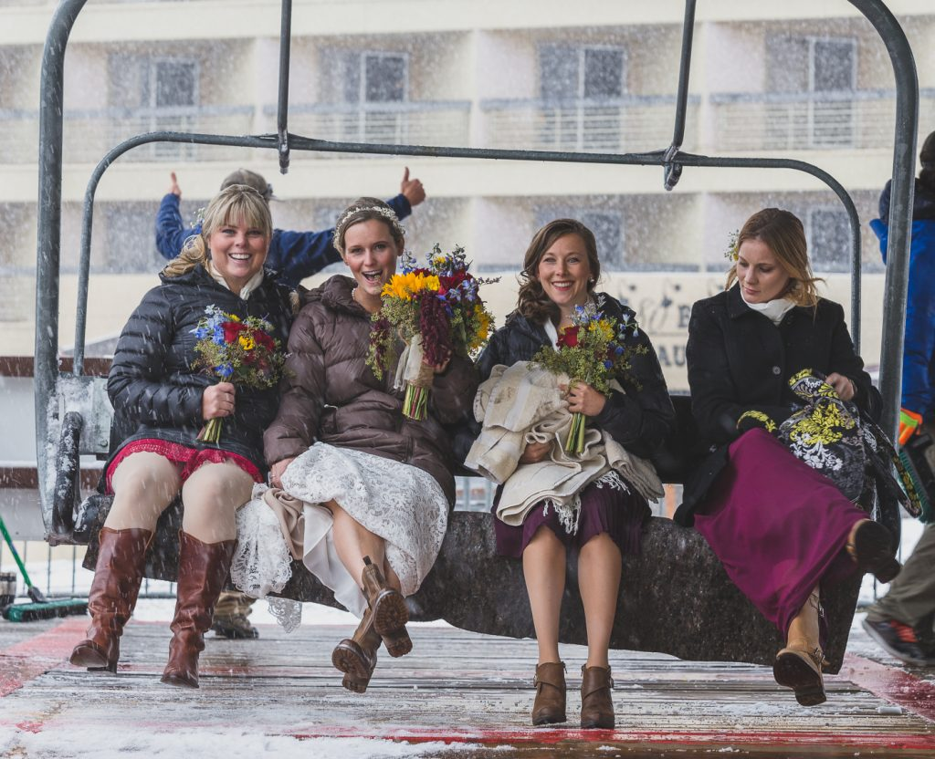 Crested Butte Wedding Chair lift