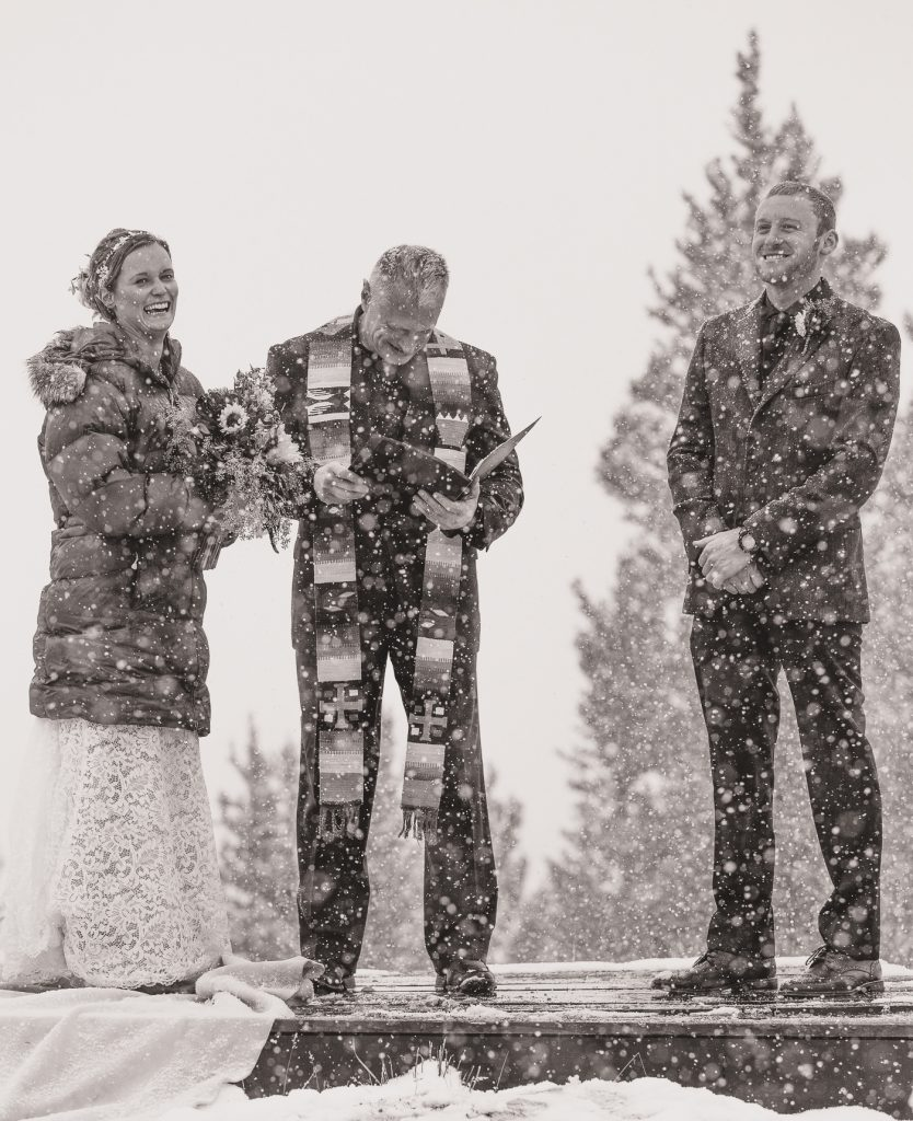 Crested Butte Wedding snow