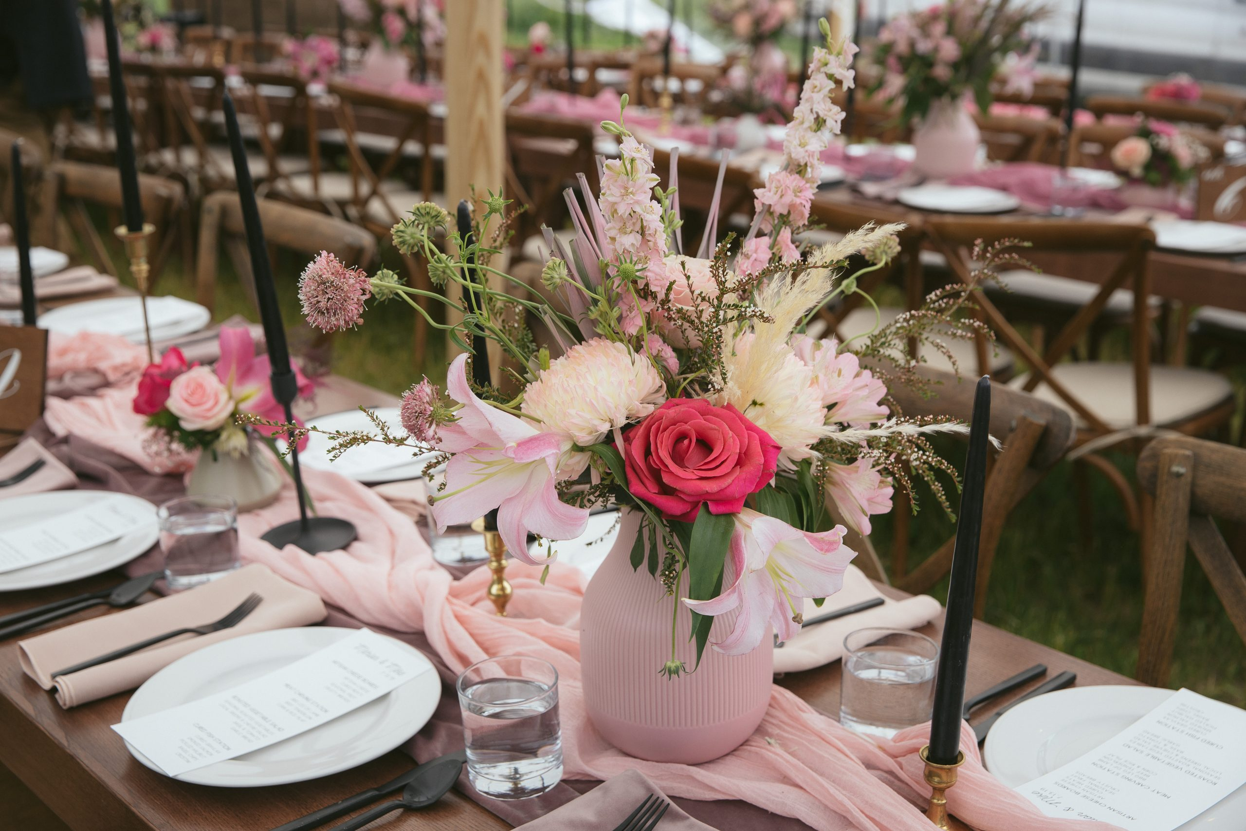 Funky Ten Shades Of Pink Wedding Lucky Penny Event Planning